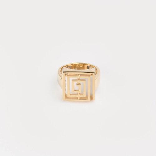 Lavirint Prsten Veliki Pozlaćeni